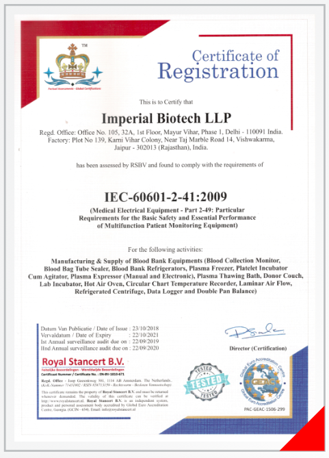 Our Certification Imperial